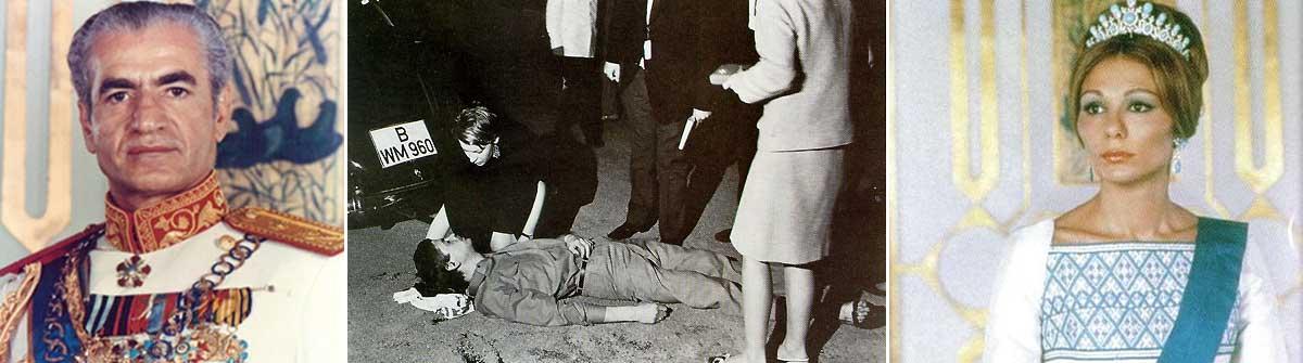 Schah Mohammad Reza Pahlavi und Gattin Farah Pahlavi folgten der Einladung des damaligen Bundespräsidenten Lübke und besuchten West-Berlin im Juni 1967. Während vor der Deutschen Oper iranische Geheimdienst-Mitarbeiter auf Demonstranten einprügelten, wurde Student Benno Ohnesorg vom West-Berliner Polizisten und Stasi-Mitarbeiter Karl-Heinz Kurras erschossen.