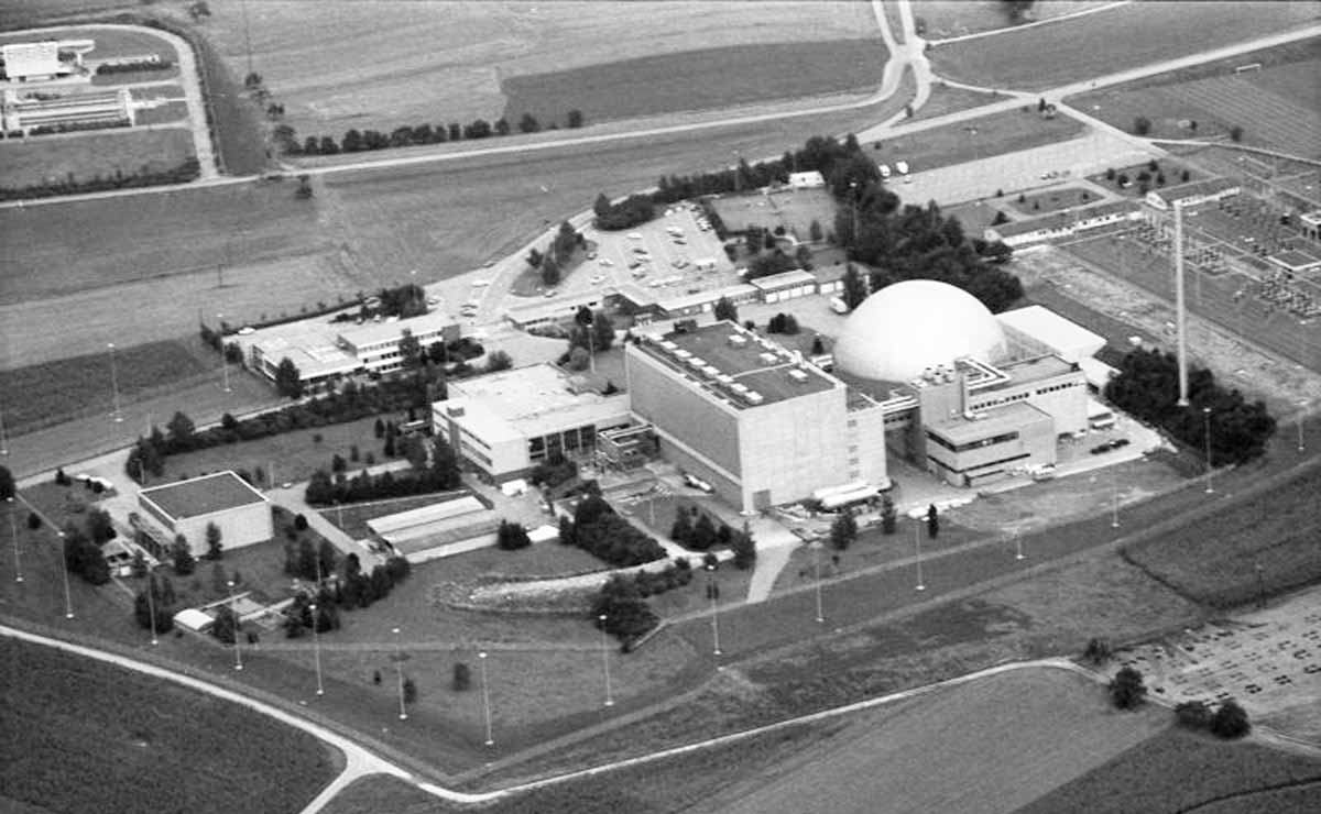 Deutschlands Atomkraftwerke: Der Druckwasserreaktor AKW Obrigheim ging 1969 in Betrieb. 2005 wurde der Reaktor abgeschaltet, zwei Jahre später begann sein Rückbau.