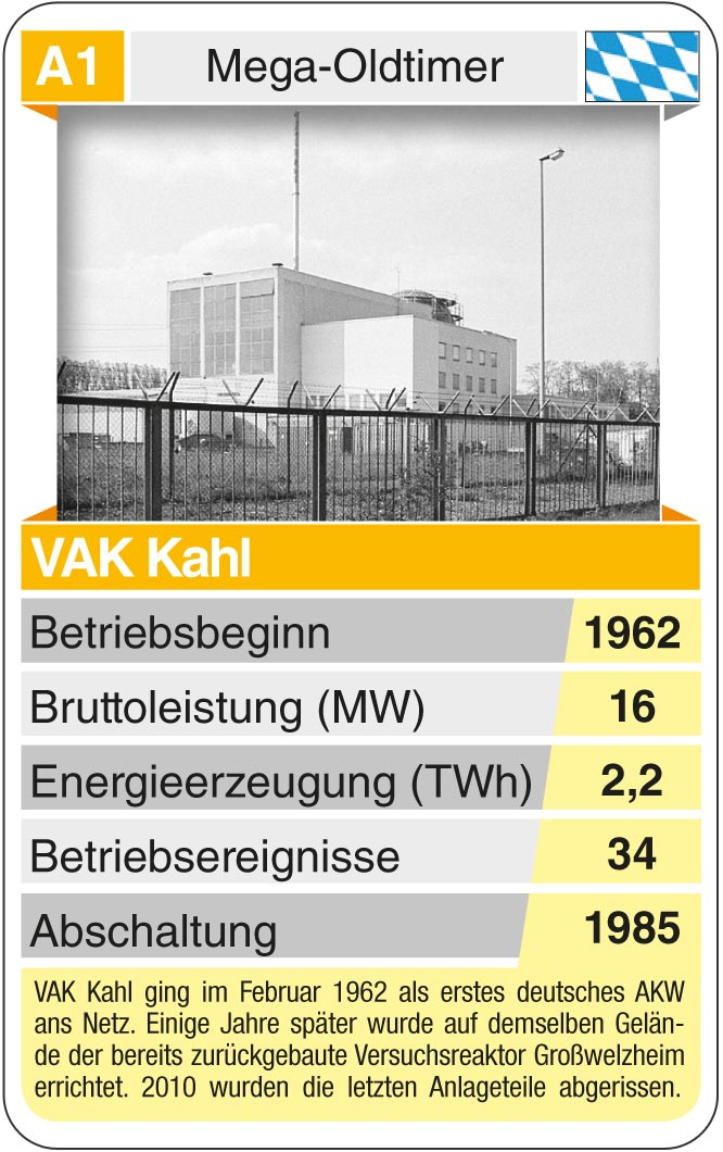 Spielkarte A1: VAK Kahl (* 1962 – † 1985)