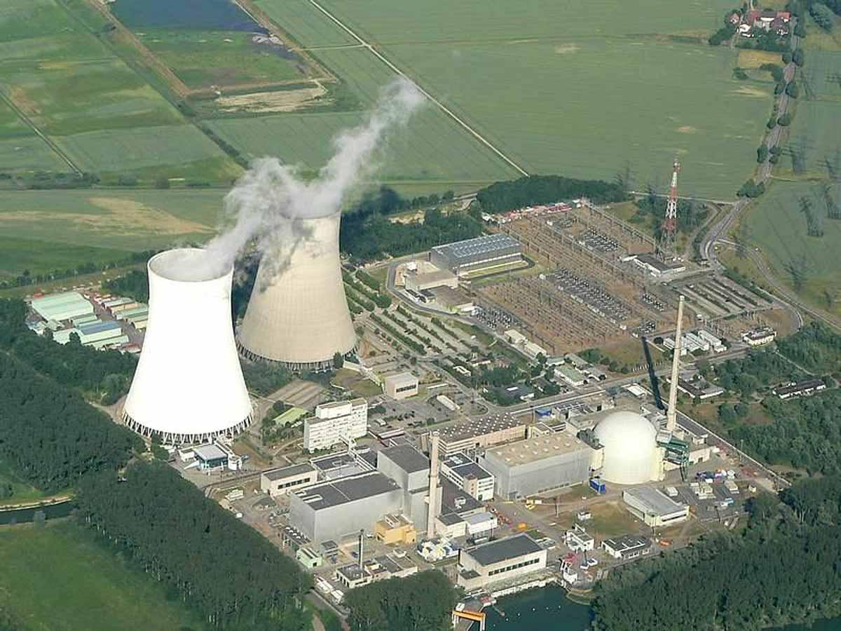 Luftaufnahme vom AKW Philippsburg