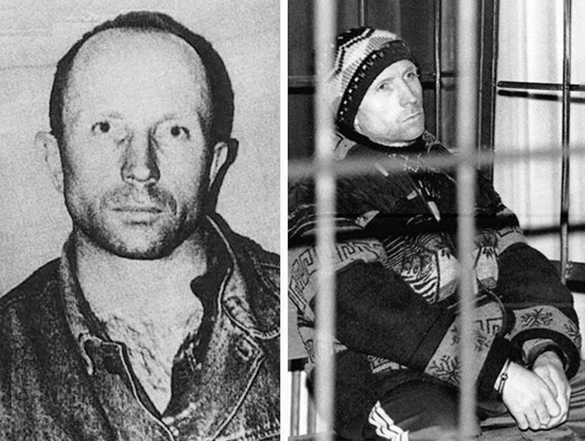 Mugshot von Anatoly Onoprienko, dem 52-fachen Serienmörder aus der Ukraine