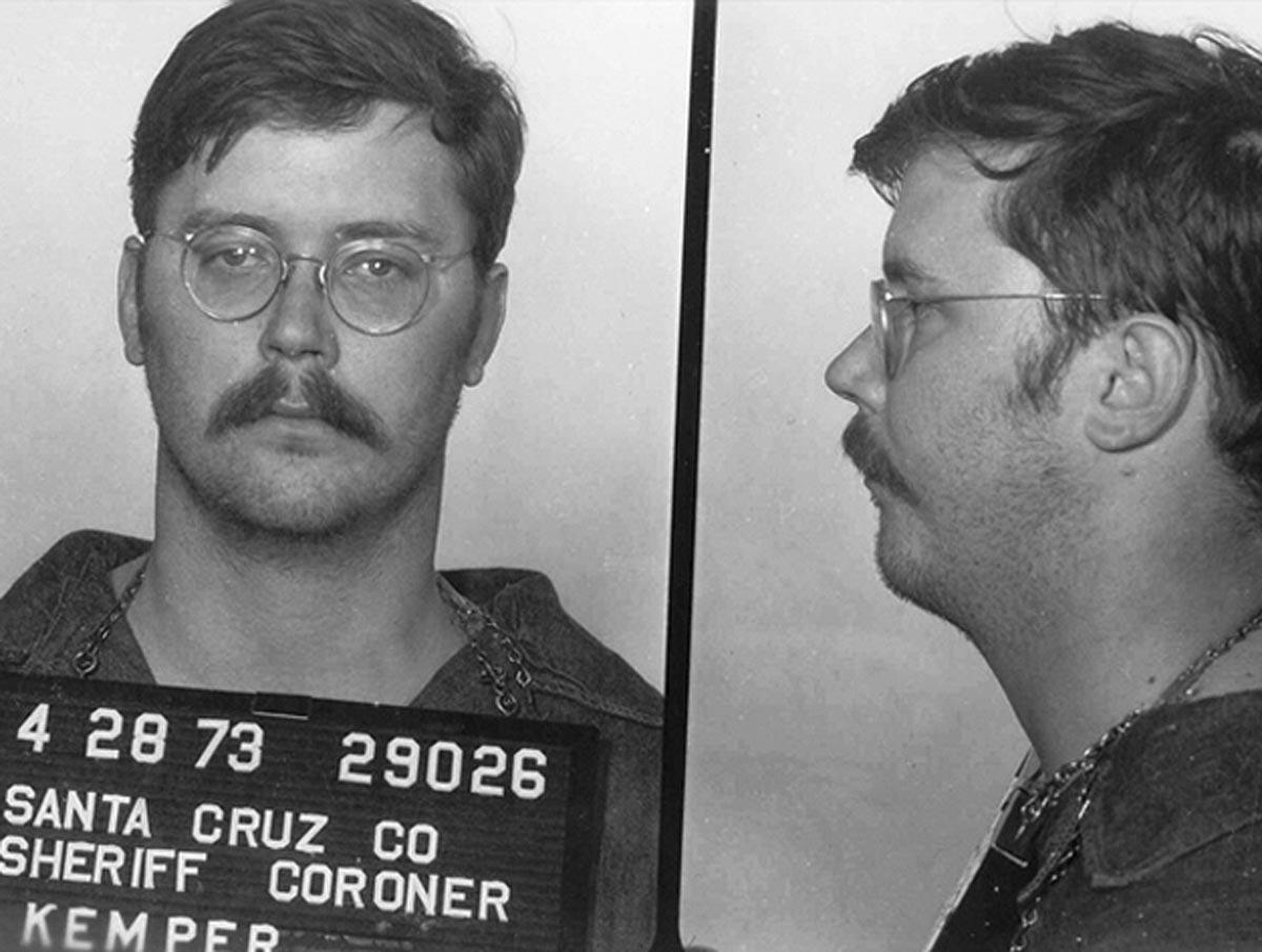 Mugshot of Edmund Kemper, the co-ed killer from California