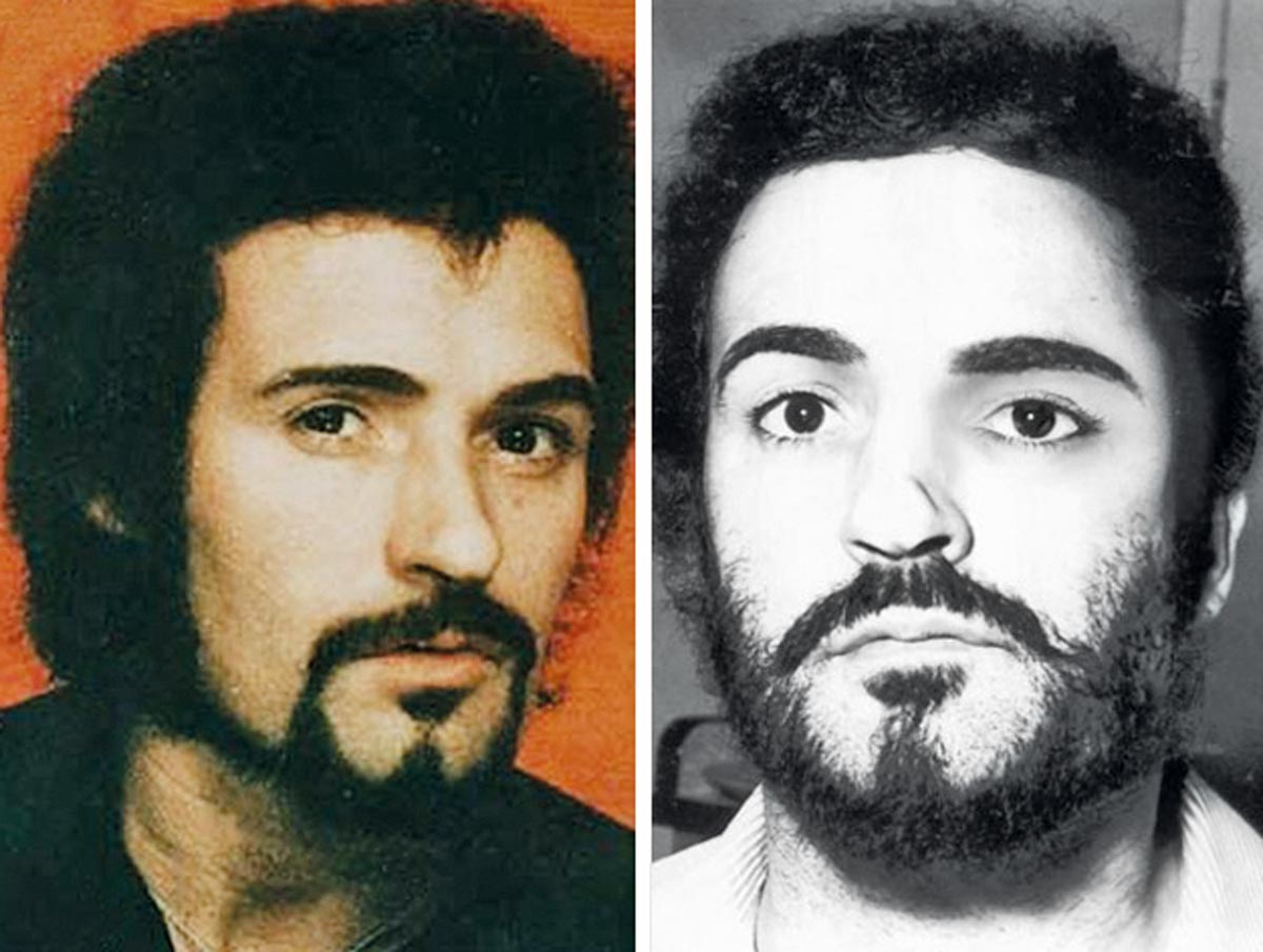Mugshot by Peter Sutcliffe, 13-time serial killer from Great Britain