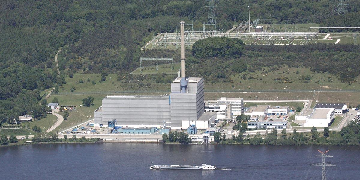 Luftaufnahme vom AKW Krümmel, das 2011 abgeschaltet wurde