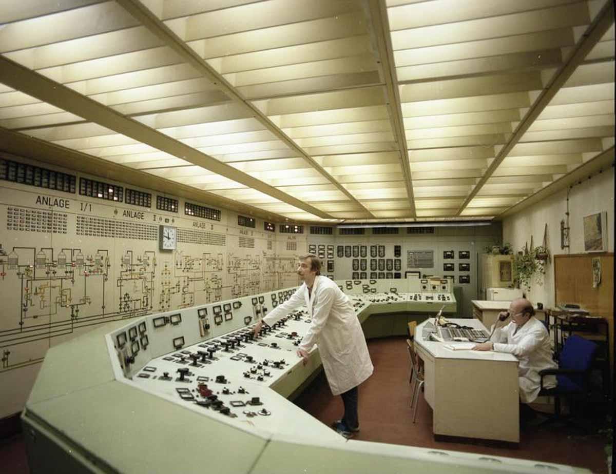 Kontrollraum des stillgelegten AKW Rheinsberg