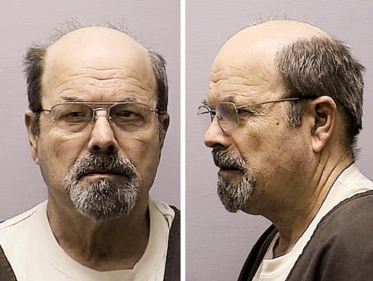 Mugshot von Dennis Rader, dem 10-fachen Serienmörder, bekannt als BTK-Killer (bind, torture, kill)