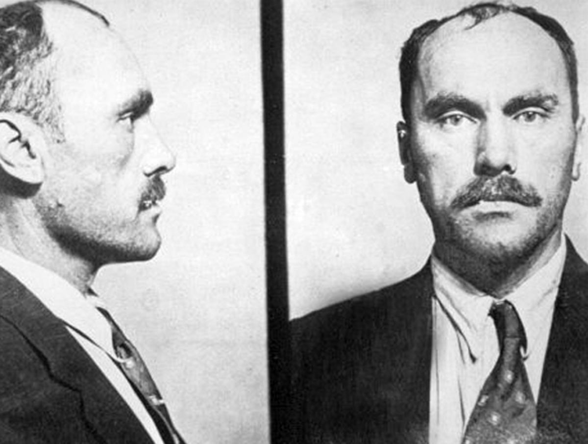 Mugshot of Carl Panzram, a US serial killer from the early 20th century