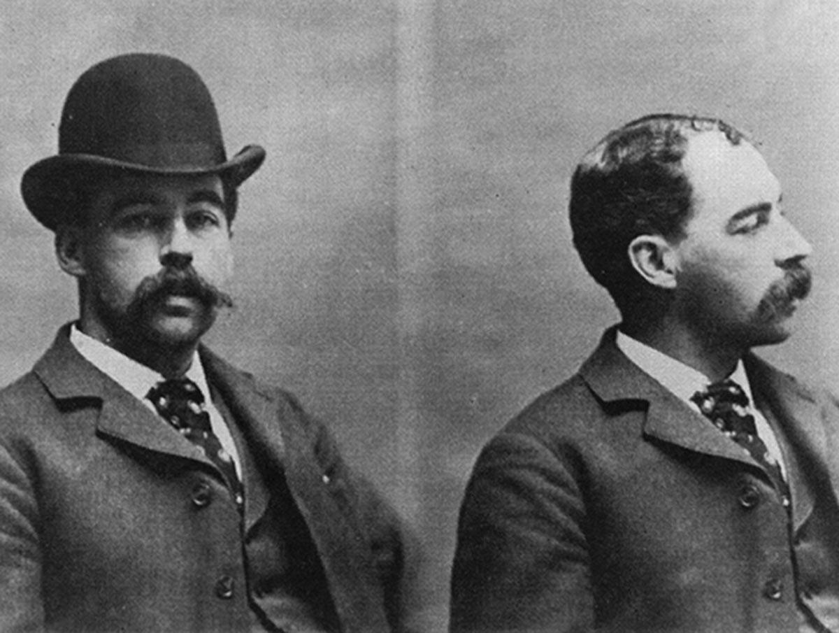 Mugshot von Henry Holmes, dem US-Serienmörder aus dem 19. Jahrhundert