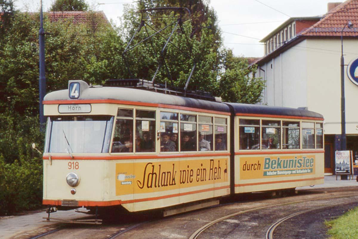 Bremer Straßenbahn Typ GT3 Nr. 918