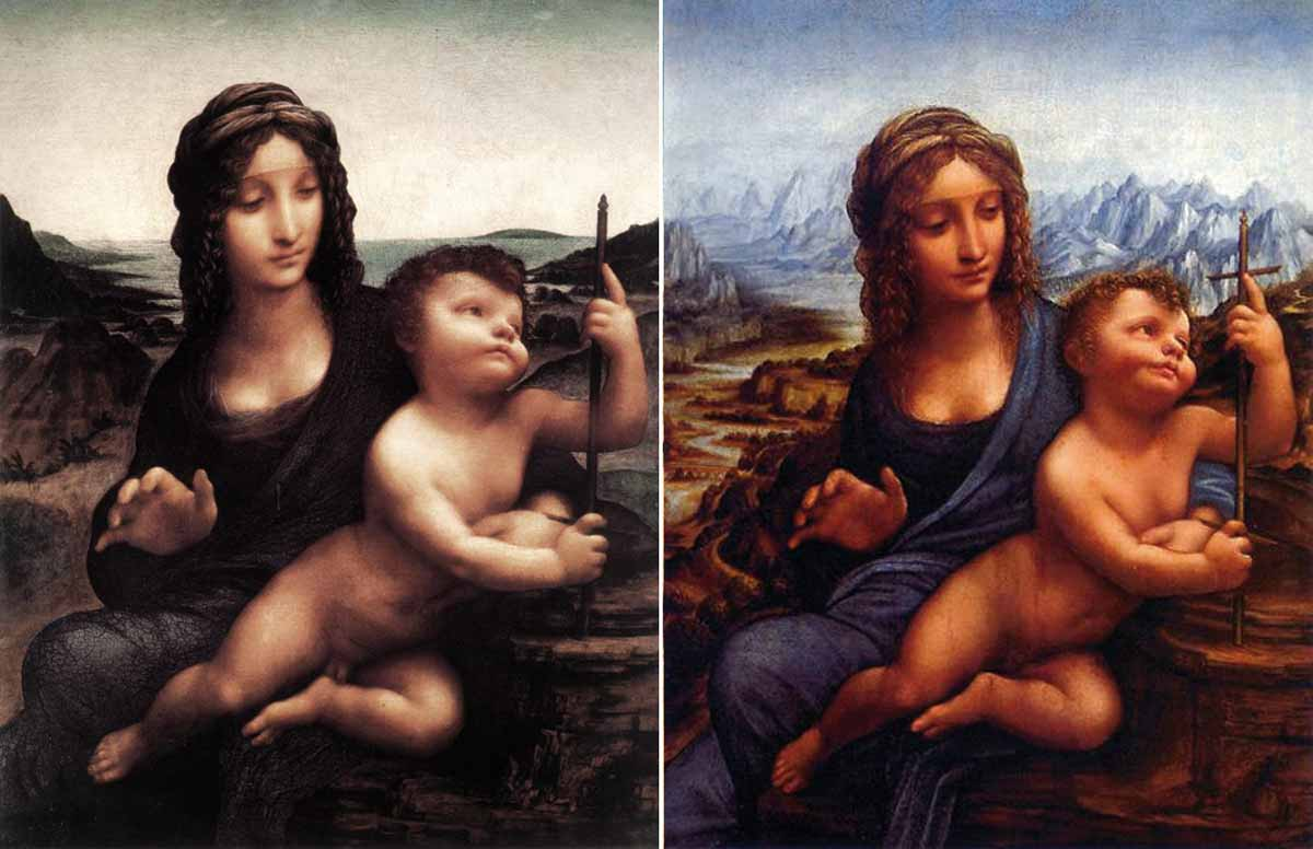 Leonardo da Vinci's painting Madonna of the yarnwinder only exists in two copies. The original is considered lost.