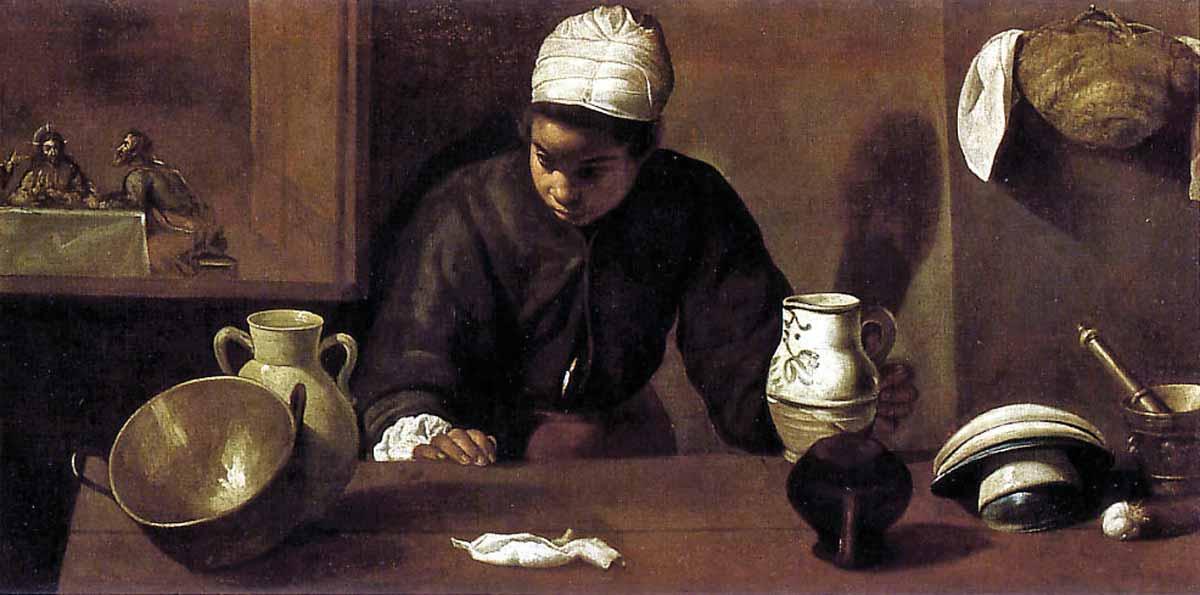 The painting La Mulata (The Kitchen Maid) by Diego Rodriguez de Silva y Velázquez was stolen in 1974.