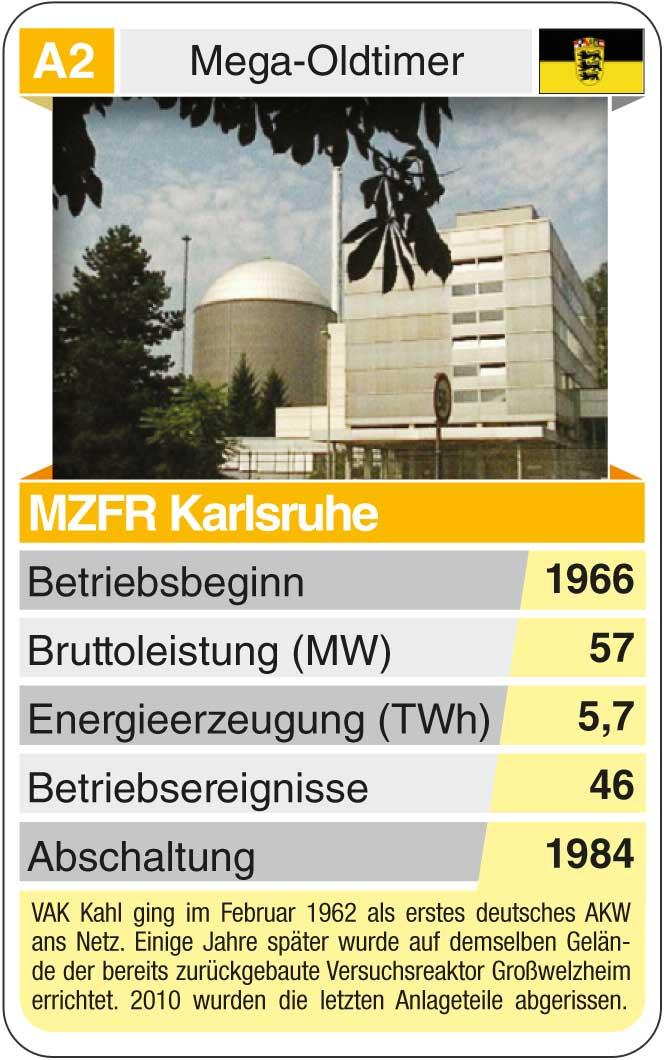 Spielkarte A2: MZFR Karlsruhe (* 1966 – † 1984)