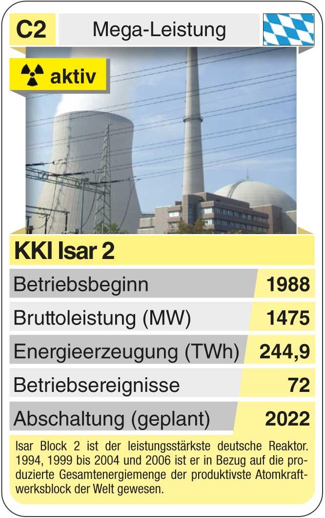 Spielkarte C2: KKI Isar (* 1988 – heute)