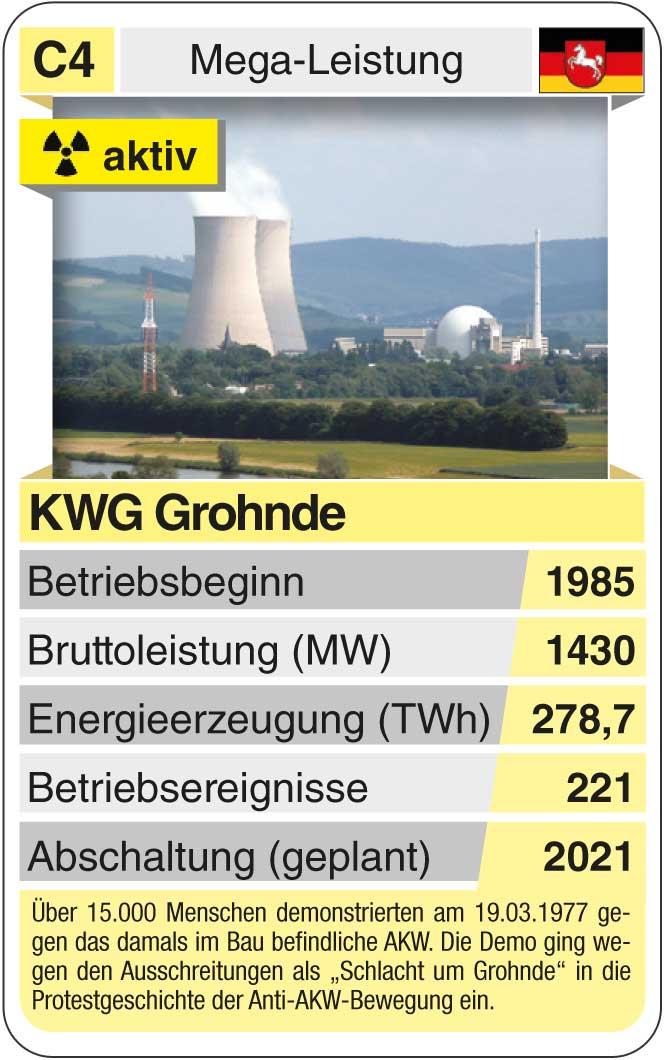 Spielkarte C4: KWG Grohnde (* 1985 – heute)
