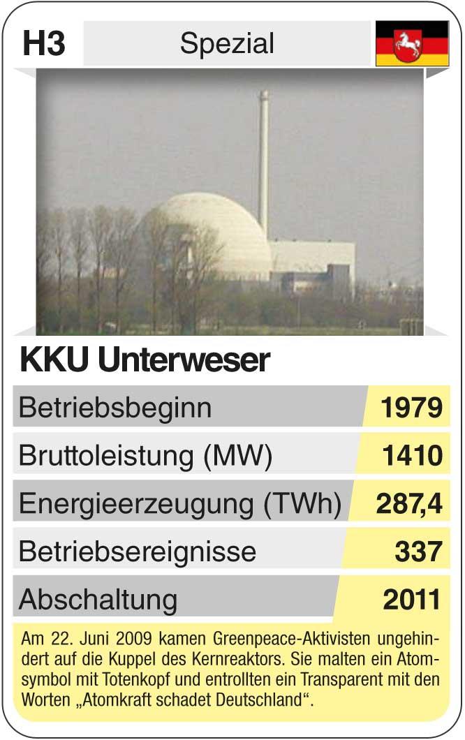 Spielkarte H3: KKU Unterweser (* 1979 – † 2011)