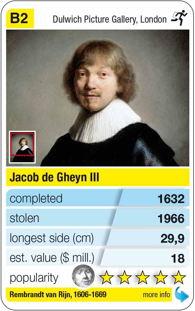Spielkarte B2:  Rembrandt: Jacob de Gheyn III (1632)