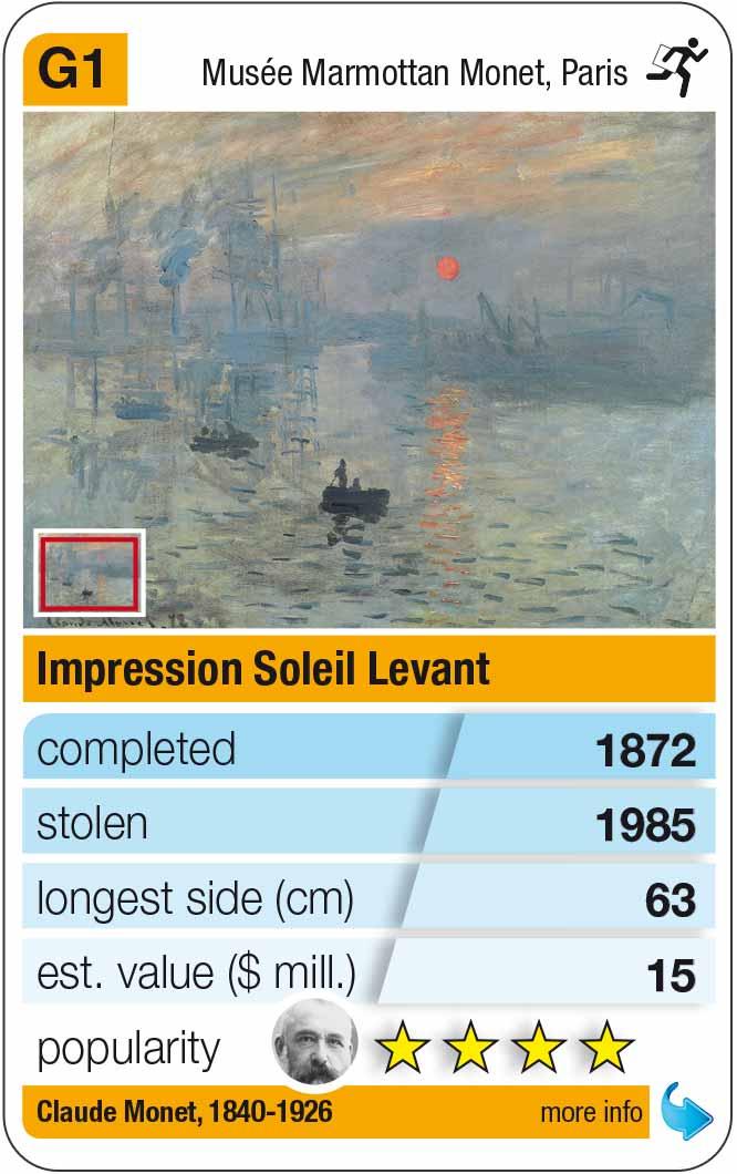 Spielkarte G1: Claude Monet: Impression, Sonnenaufgang (1872)