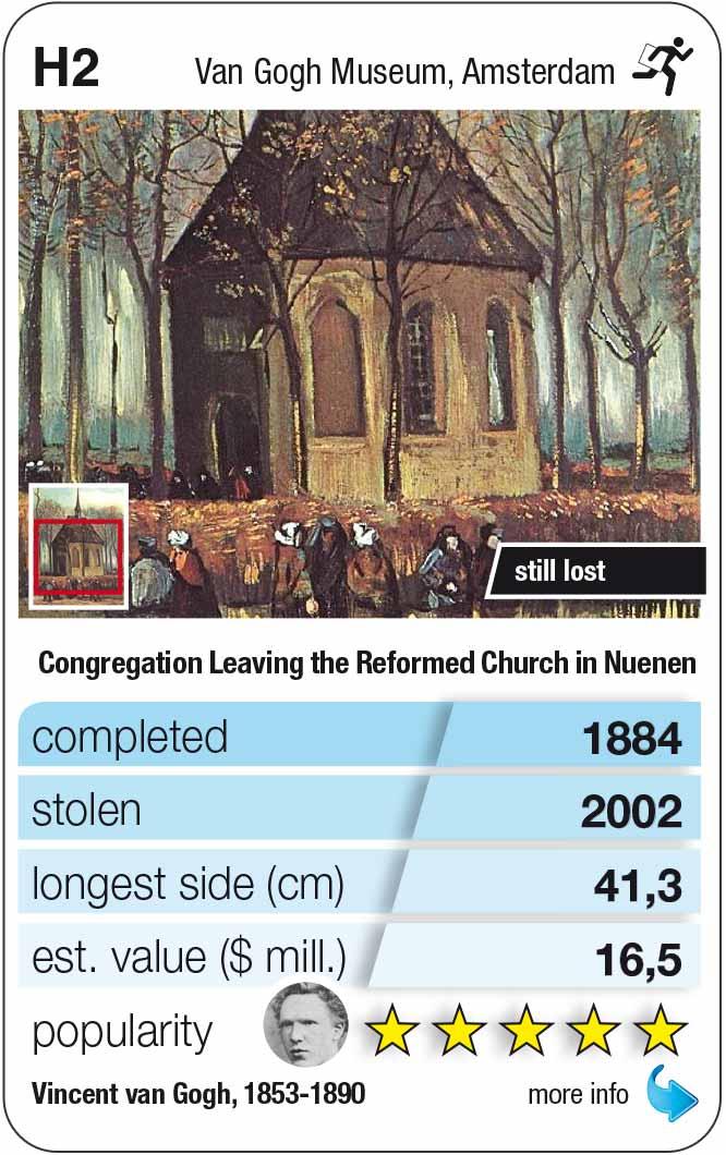 Spielkarte H2: Van Gogh: Die Kirche von Nuenen (1884)