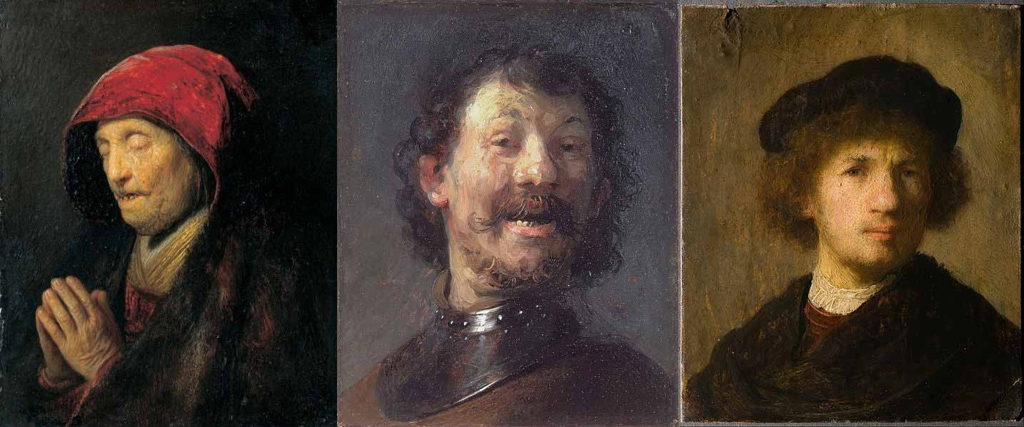 Rembrandt's works of art from 1630 including the self-portrait.