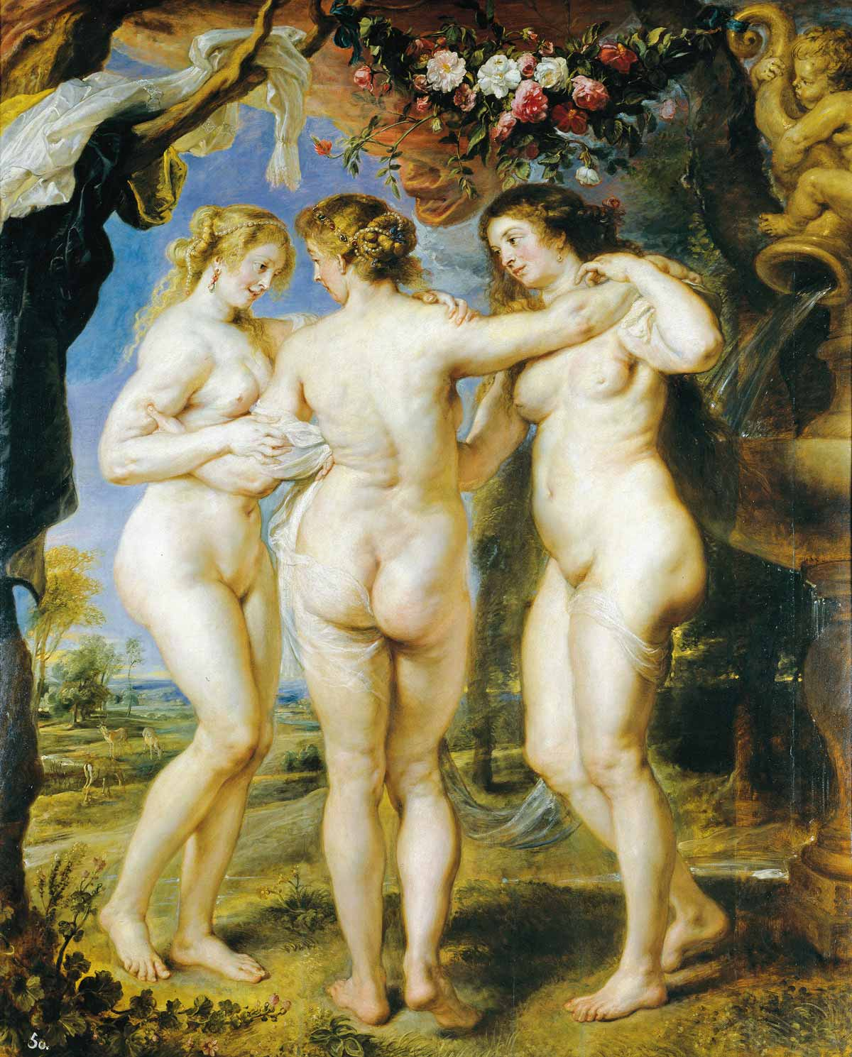 Painting by Paul Rubens: The Three Graces (1635)
