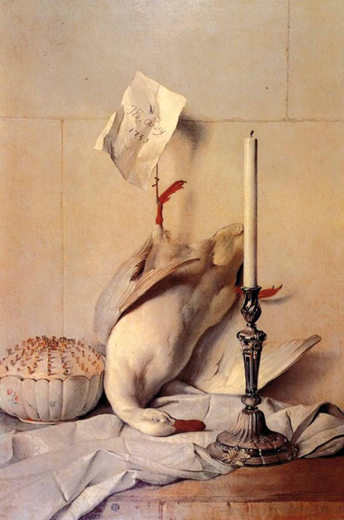 Stolen painting Jean-Baptiste Oudry: Still Life with a White Duck (1753)