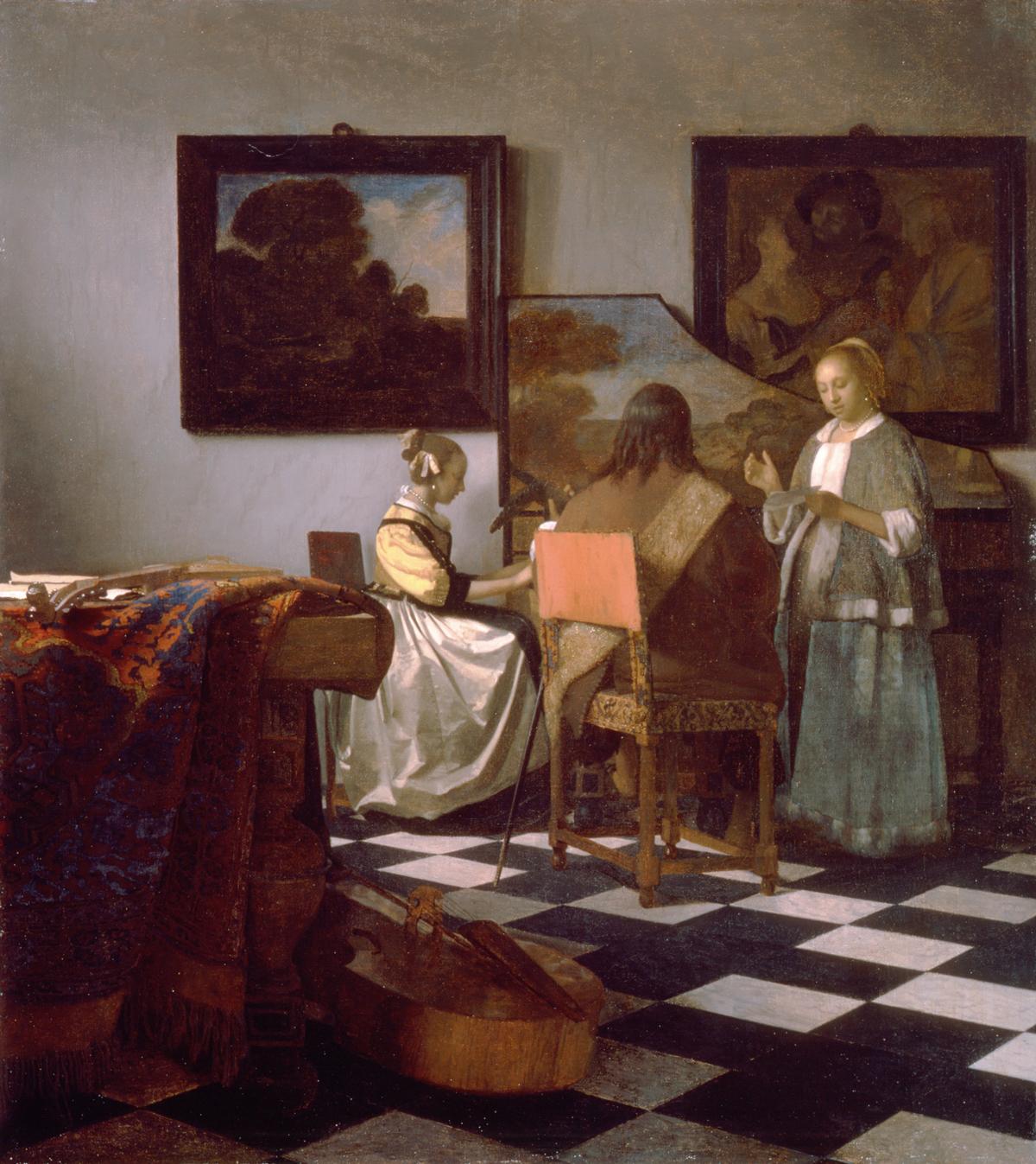 Gestohlenes Gemälde Jan Vermeer: Das Konzert (1664)
