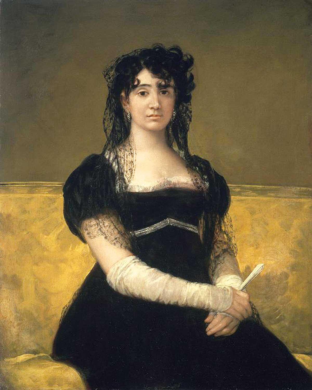 Stolen painting Goya: Portrait of Dona Antonia Zaraté (1806)