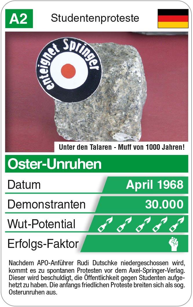 Spielkarte A2: Oster-Unruhen 1968