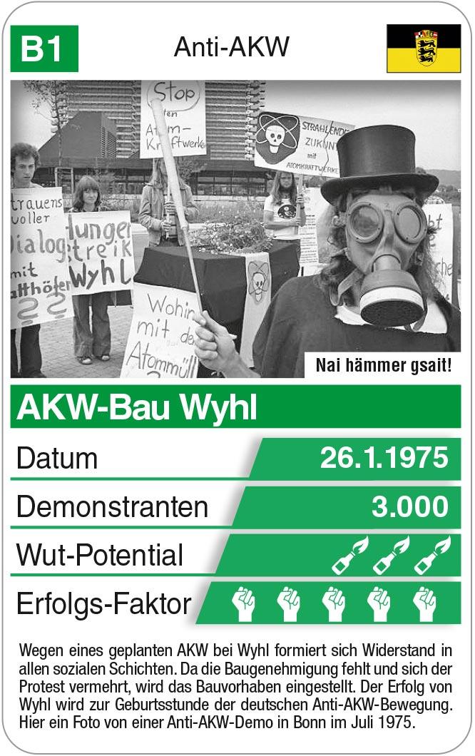 Spielkarte B1: Proteste in Wyhl