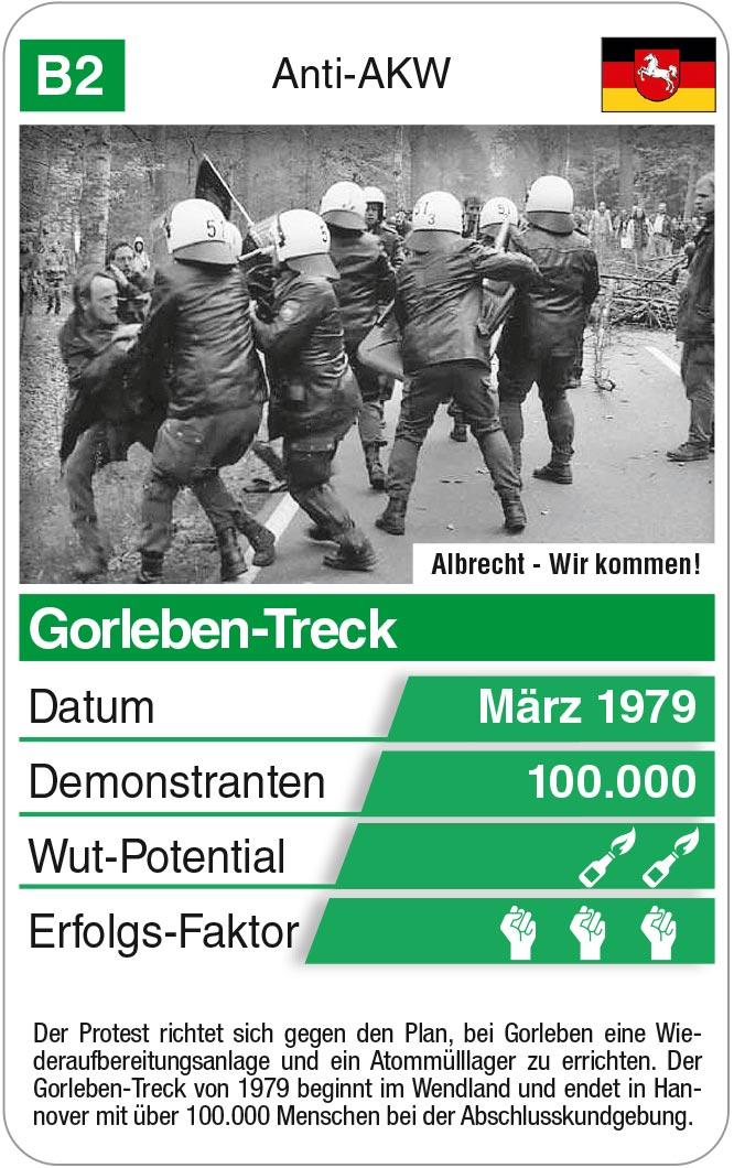 Spielkarte B2: Gorleben-Treck