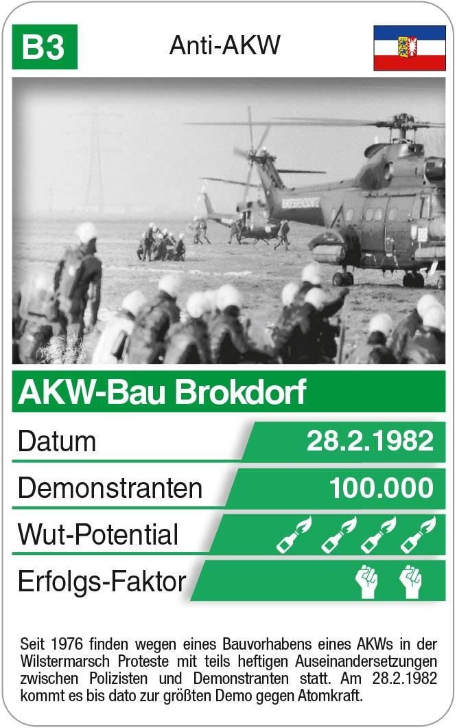 Spielkarte B3: AKW-Proteste Brokdorf 1982