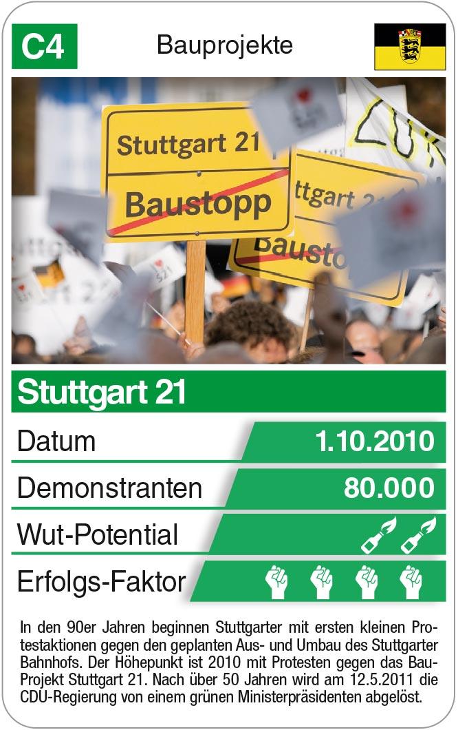 Spielkarte C4: Bauprojekt Stuttgart 21