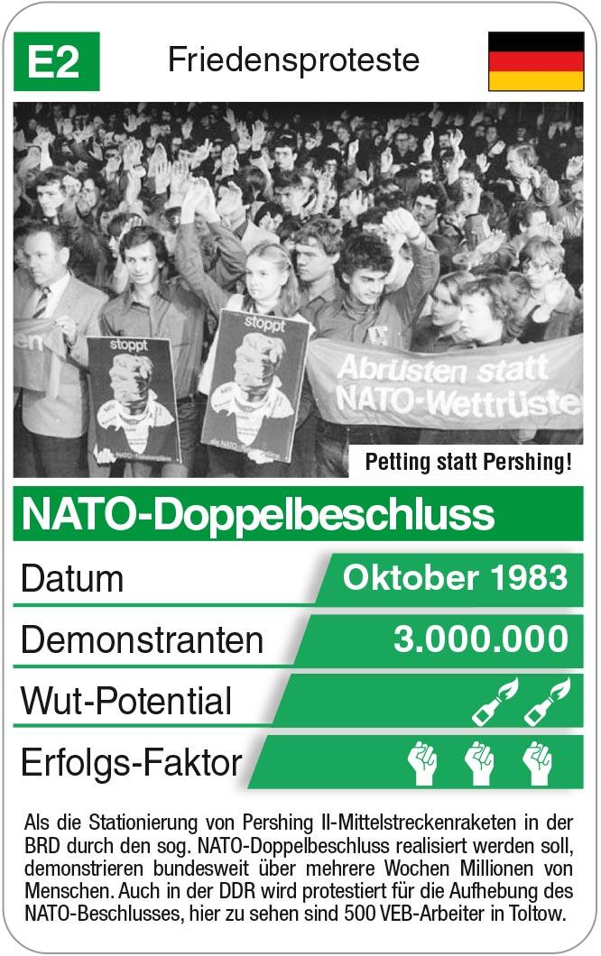 Spielkarte E2: NATO-Doppelbeschluss 1983