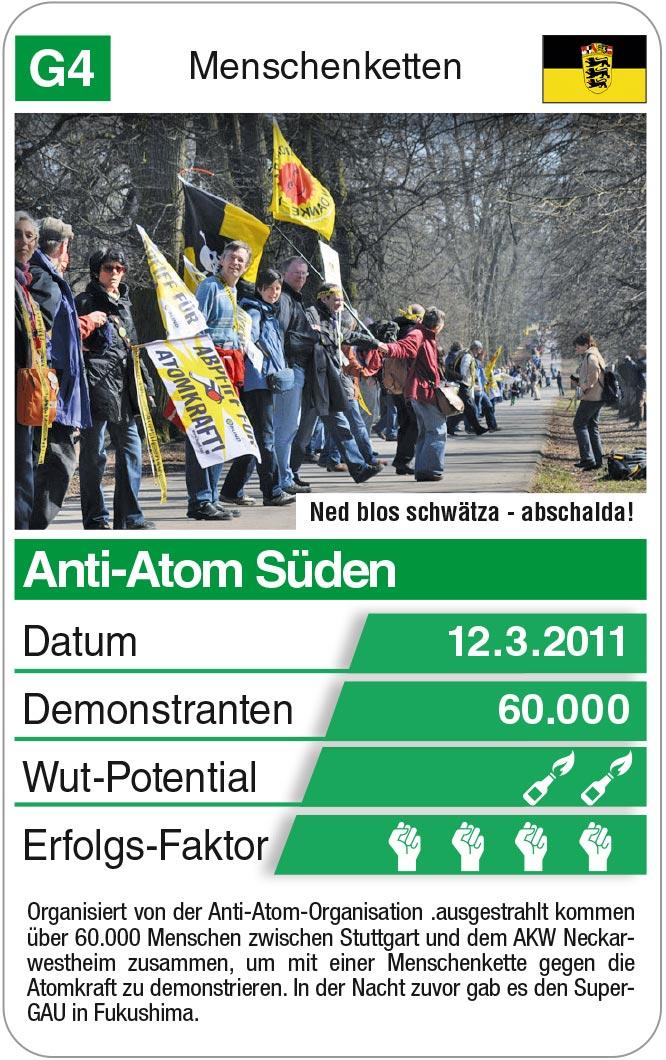 Spielkarte G4: Menschenkette Anti-Atom Süden