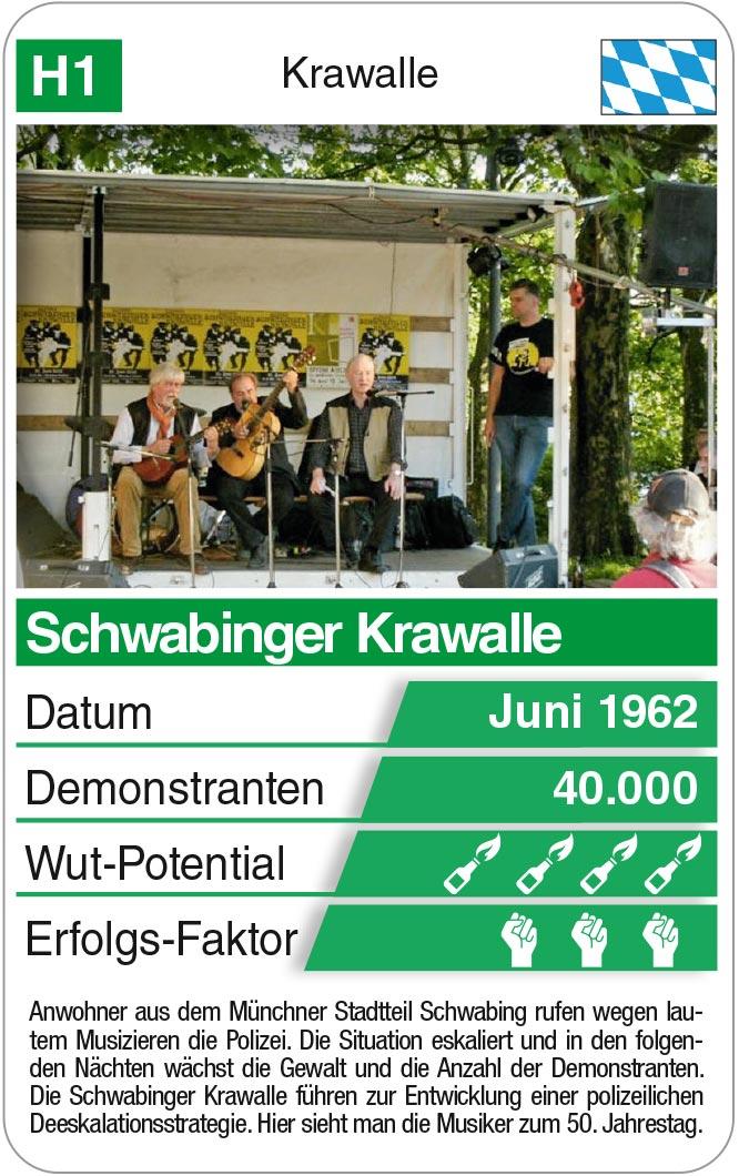 Spielkarte H1: Schwabinger Krawalle 1962