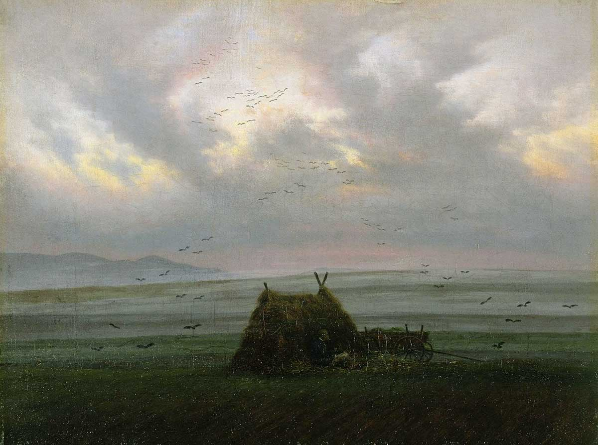 Stolen painting by Caspar David Friedrich: Clouds of fog (1820)