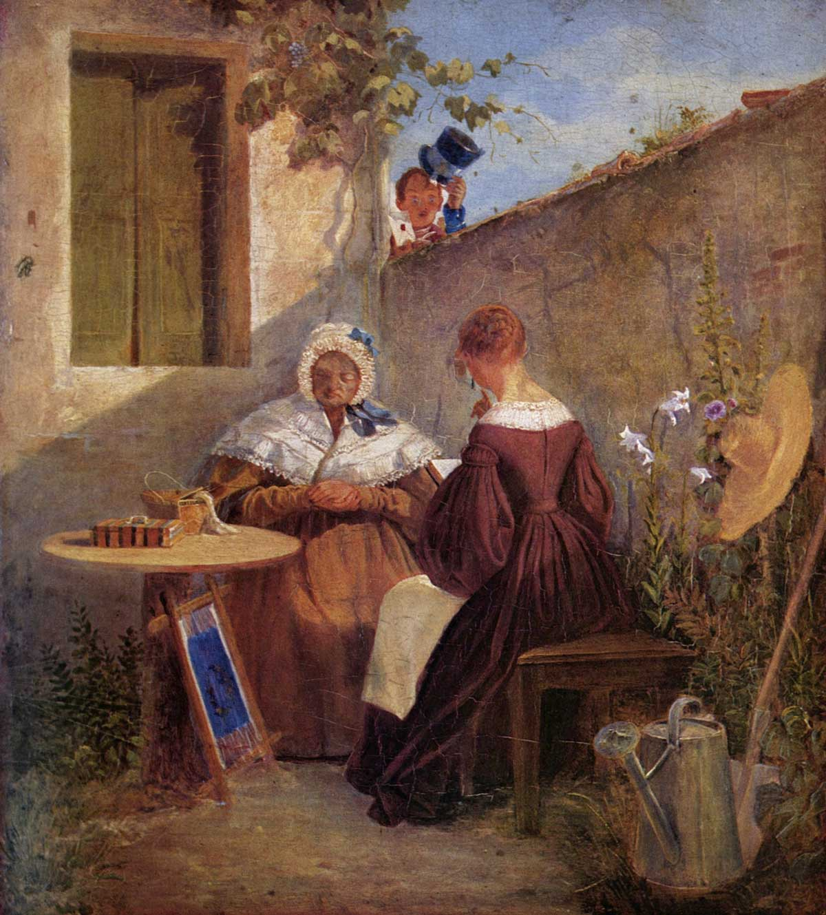Stolen painting by Carl Spitzweg: The love letter (1846)