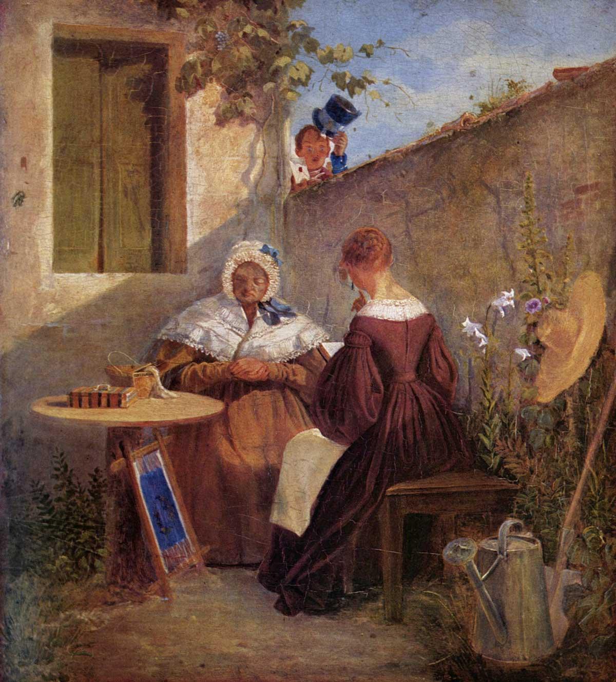 Gestohlenes Gemälde von Carl Spitzweg: Der Liebesbrief (1846)