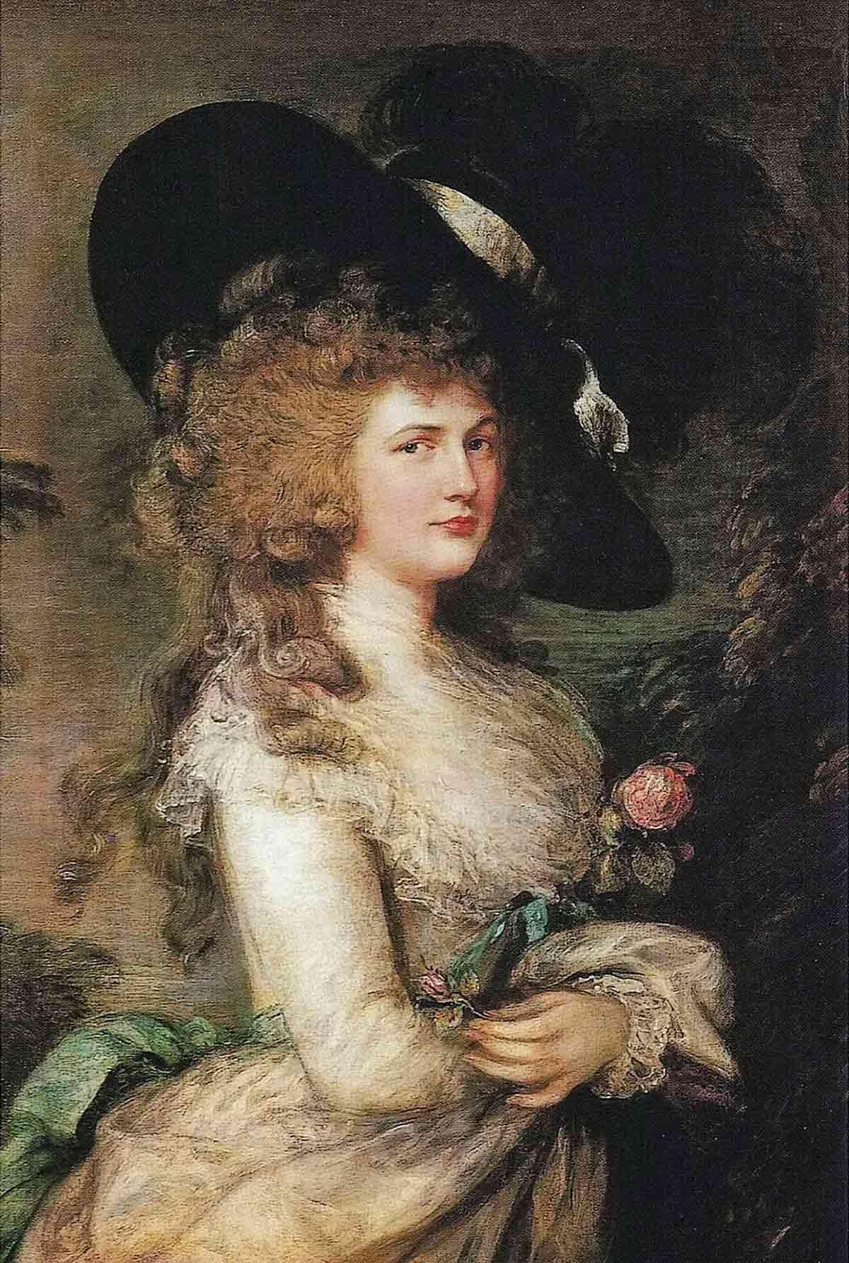 Stolen painting by Gainsborough: Portrait Lady Cavendish (1787)