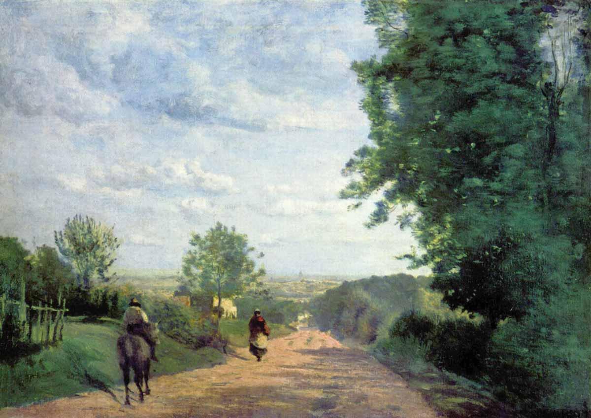 Stolen painting: Camille Corot: Le Chemin de Sèvres (1865)