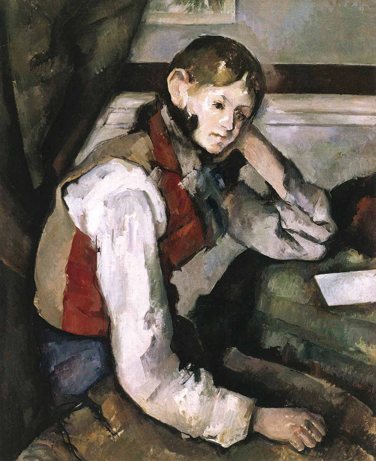 Stolen painting: Paul Cézanne: The boy in the red vest (1890)