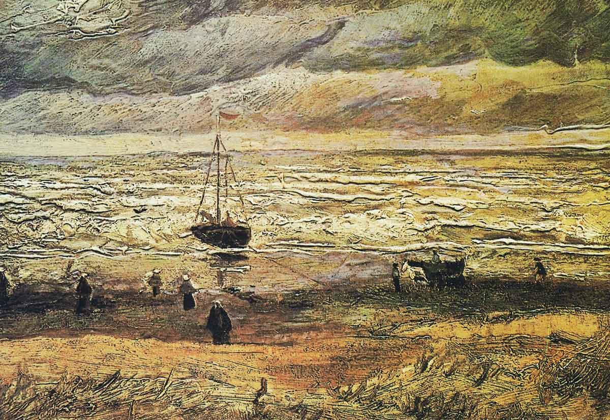 Gestohlenes Gemälde: Van Gogh: Strand von Scheveningen (1882)