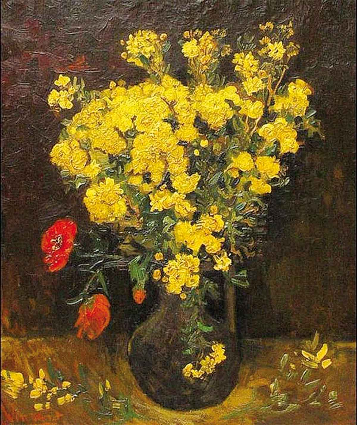 Stolen painting by Van Gogh: Poppy Flowers (1887)