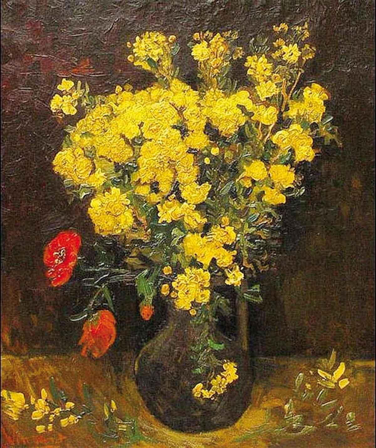 Gestohlenes Gemälde von Van Gogh: Vase mit Pechnelken (1887)