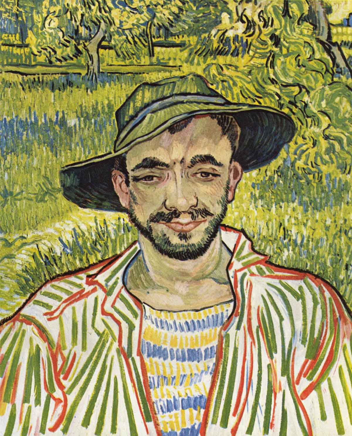 Stolen painting by Van Gogh: The Gardener (Young peasant, 1889)