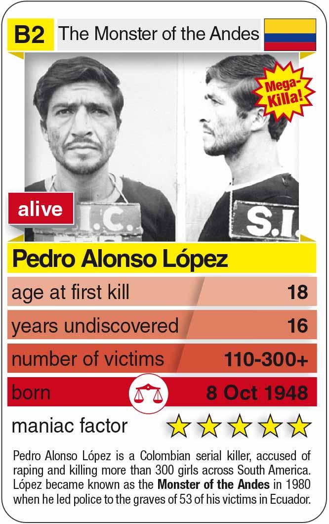 Spielkarte B2:  Pedro Alonso López (* 1948 – heute)