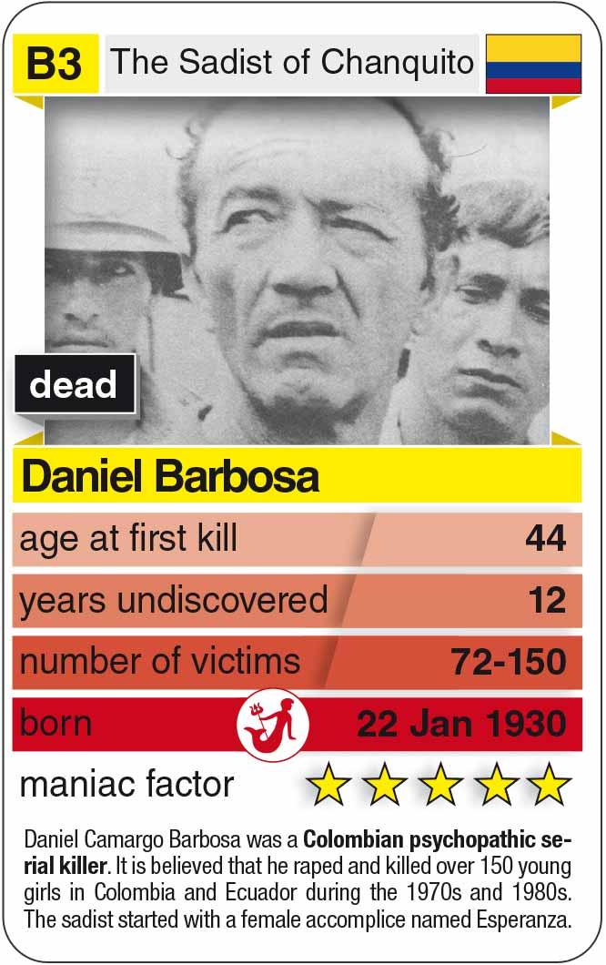 playing card B3:  Daniel Barbosa (* 1936 – † 1994)