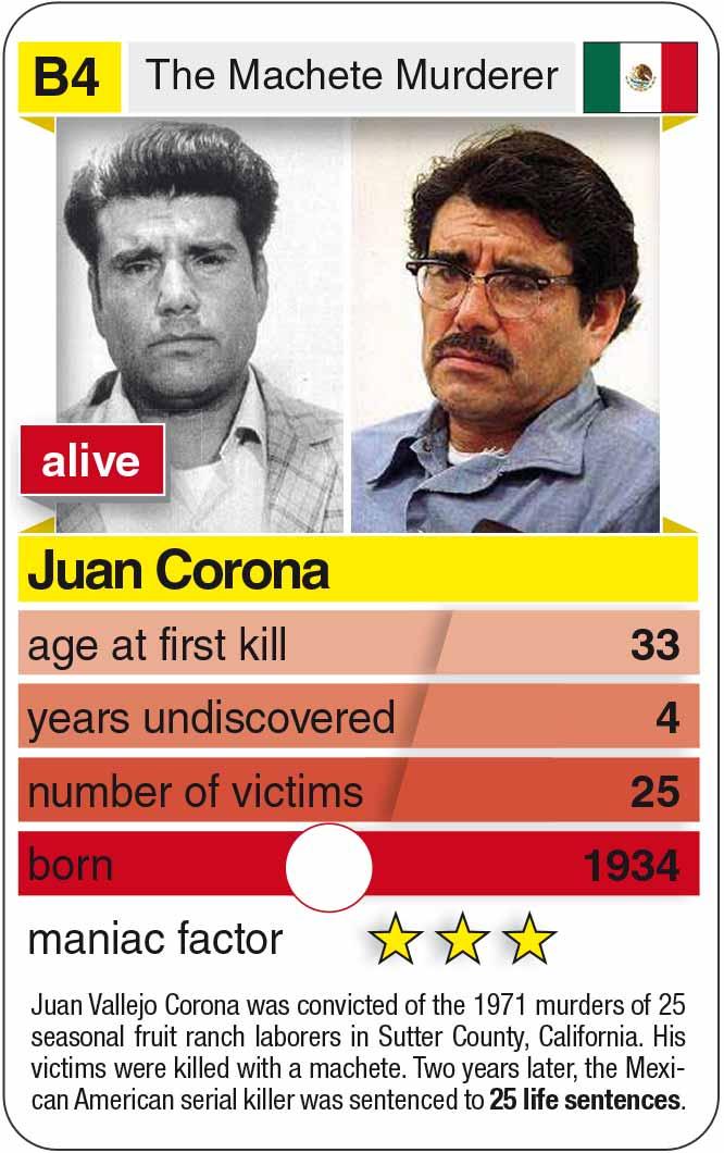 Spielkarte B4:  Juan Corona (* 1934 – heute)