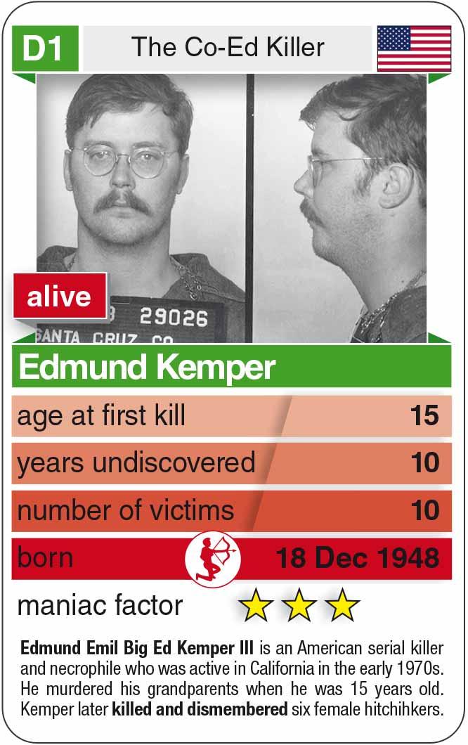 Spielkarte D1: Edmund Kemper (* 1948 – heute)