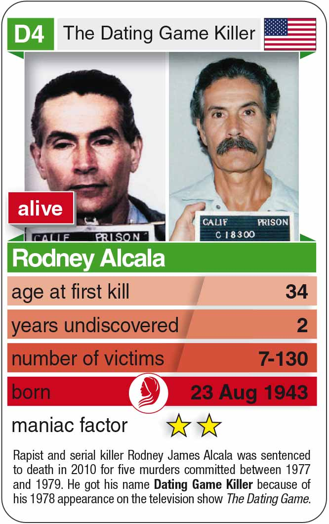 playing card D4: Rodney Alcala (* 1943 – today)